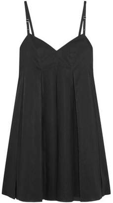 Calvin Klein Collection Lucinda Pleated Cotton Mini Dress