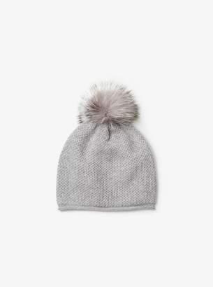 MICHAEL Michael Kors Cashmere and Fur Pom-Pom Beanie