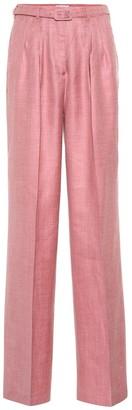 Gabriela Hearst Vargas high-rise wide-leg pants