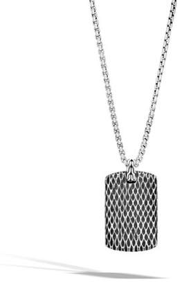 John Hardy Men's Legends Naga Dragon Sterling Silver Dog Tag Necklace