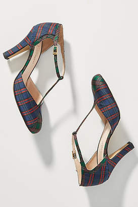 Lenora Aida Plaid T-Strap Heels