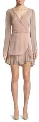 Saks Fifth Avenue RED Ruffle Wrap Front Mini Dress