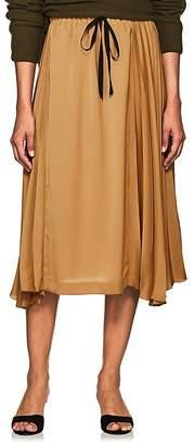 Pas De Calais Women's Pleated Satin Drawstring Skirt