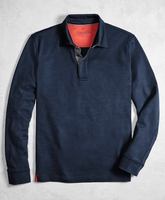 Brooks Brothers Golden Fleece BrooksTech Performance Interlock Long-Sleeve Polo Shirt