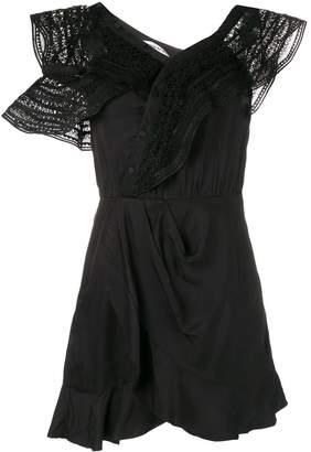 Self-Portrait sleeveless embroidered dress