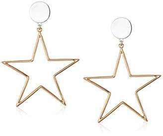 BCBGeneration BCBG Generation Two-Tone Star Drop Earrings