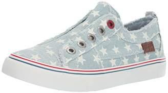 Blowfish Women's Play Sneaker ice Star Print Denim
