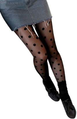 etalinlin Womens Girls DDLIN Polka Dot Tights Pantyhose