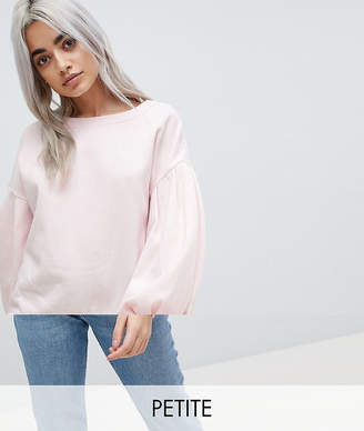 Noisy May Petite Puffed Sleeves Sweatshirt