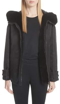 Moncler Bondree Genuine Mink Fur Trim Down Jacket