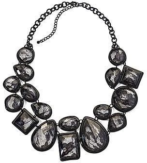 Mixit® Necklace, Jet Lace Bib
