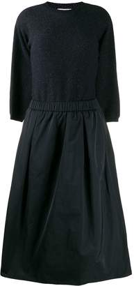 Peserico fabric-mix midi dress