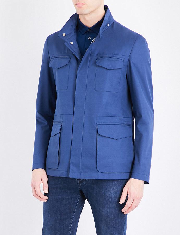 CornelianiCorneliani Safari cotton wool and silk-blend jacket