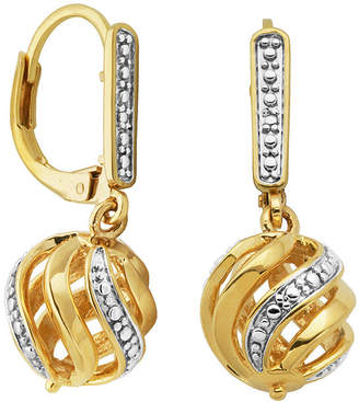 SPARKLE ALLURE Classic Treasures Diamond-Accent Swirl Ball Earrings