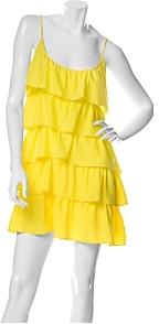 Jay Godfrey Silk Ruffle Tier Dress