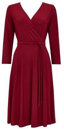Wallis Petite Berry Wrap Dress