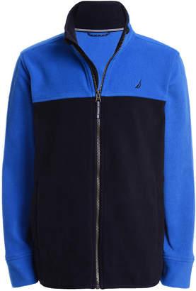 Nautica (ノーティカ) - Nautica Big Boys Grant Red Colorblocked Full-Zip Fleece Jacket