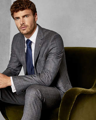 Ted Baker CHETREJ Classic checked wool suit jacket