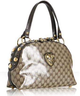 Gucci beige crystal GG 'Babouska'  studded top handle bag