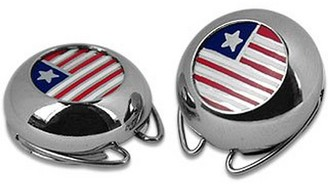 Forzieri Silver Plated Star and Stripes Button Covers