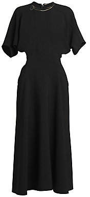 Victoria Beckham Women's Batwing-Sleeve Midi Dress