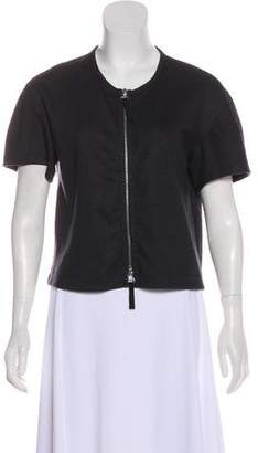 Dries Van Noten Wool Short Sleeve Cardigan