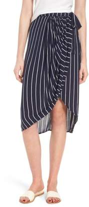 Billabong So Right Stripe Faux Wrap Skirt