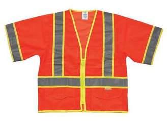 ML Kishigo ML KISHIGO High Visibility Vest,Class 3,4XL,Orange 1243-4X