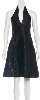 Halston Metallic A-Line Dress