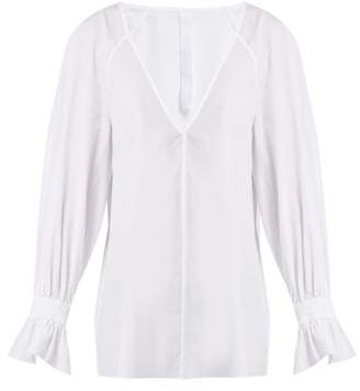 Merlette - Azore Cotton Poplin Blouse - Womens - White