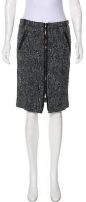 Armani Collezioni Wool Sequin Skirt