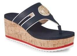 Tommy Hilfiger Galley Cork Platform Wedge Sandals