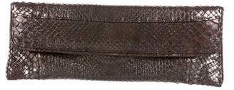 VBH Metallic Snakeskin Clutch