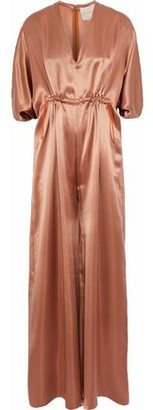 Roksanda Gathered Silk-Satin Jumpsuit