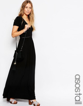 ASOS Tall ASOS TALL Maxi Dress With Ladder Inserts $49 thestylecure.com