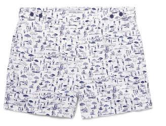 Frescobol Carioca Praia Short-Length Printed Swim Shorts