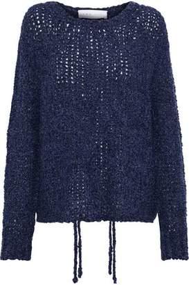 IRO Crescent Bouclé Open-Knit Sweater