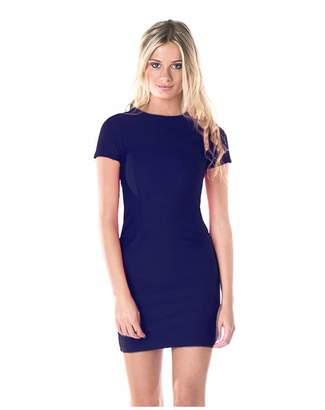 Missy Empire Missyempire Beckie Navy Textured Bodycon Dress 645549506