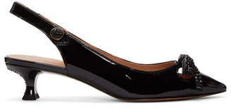 Marc Jacobs Black Abbey Slingback Heels
