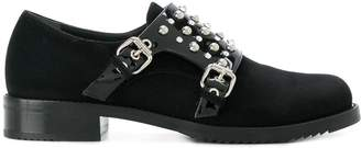 Loriblu studded double monk-strap shoes
