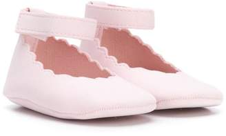 Miss Blumarine scalloped trim ballerinas
