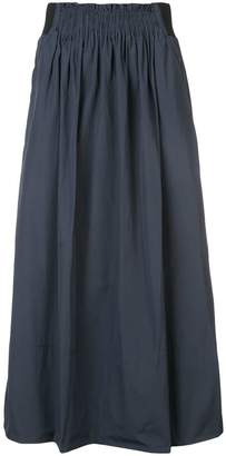 Tibi shirred waistband midi skirt