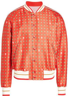 Alexander McQueen Wool and Silk Bomber Jacket