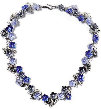 Bottega VenetaBottega Veneta - Enameled Silver Necklace - one size