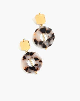 Madewell Linked Shapes Statement Earrings