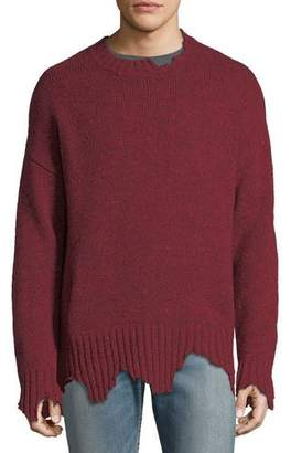 Ovadia & Sons Oversize Distressed Crewneck Sweater