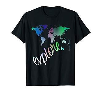 Wanderlust Explore v3.0 World Traveler Atlas Map T Shirt