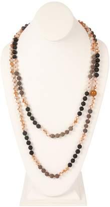 Riah Fashion Longline-Lava Crystal-Necklace
