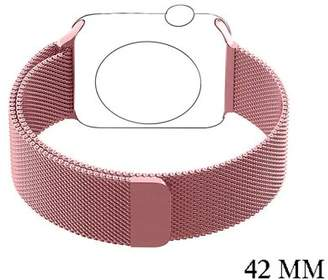 VicTsing Stainless Steel Mesh Milanese Loop with Adjustable Magnetic Closure Replacement Band for Apple iWatch Series 2 Series 1 and Edition 38mm 42mm (42mm,Rose Gold)