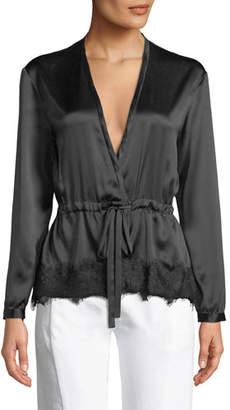 1396a9c9caaee Rag   Bone Tomlin V-Neck Long-Sleeve Satin Silk Shirt